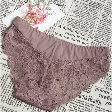 Summer Sexy Lace Female Cotton panties organic