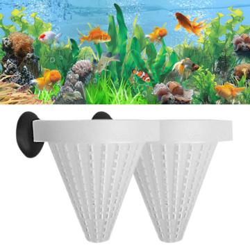 2 Pcs/lot Aquarium Basket Feeder Feed Fishtank Fish Food Live Worm Bloodworm Cone Feed Tool