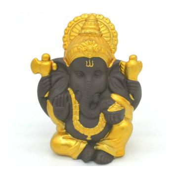 Ceramic Ganesha Buddha Statue Indian Elephant God Sculptures Ganesha Figurines Resin Home Garden Buddha Decoration Statues
