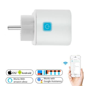 10A EU Smart Wifi Power Plug With Power Monitor Smart Home Wifi Wireless Socket Outlet Works With Alexa Google Home Tuya App EU