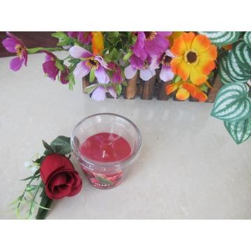 Cotton Wick Scented Red Glass Candle