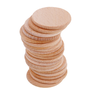 20pcs Natural Round Unfinished Wood Embellishments for Art DIY Crafts projects ornaments costume fabric Decoration 36mm