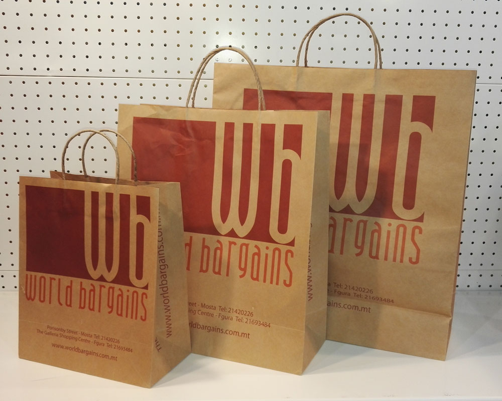 Brown Paper Shopping Bags With Handles