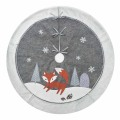 Christmas tree skirt with winter woodland theme