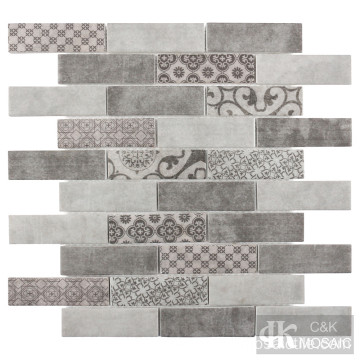 Grey Brick Mosaic Tile Printing Mosaic For Backsplash