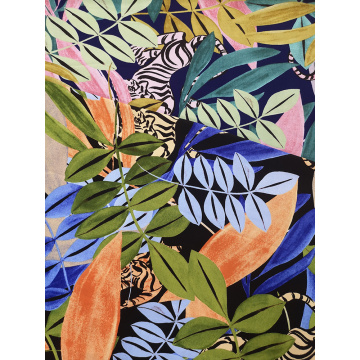 Tropical Animal Rayon Challis 30S Air-jet Printing Fabric