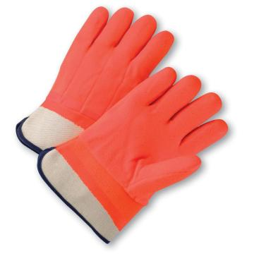 Winter lined heavy duty pvc coated gloves