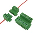 cabel to cabel pluggable terminal block with flange