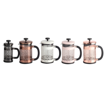 Multi-color optional clear glass coffee pot