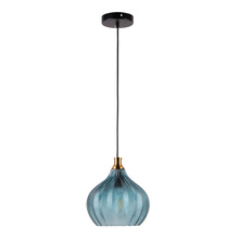 Indoor Glass pendant lamp with blue color