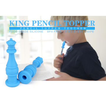 Silicone Pencil topper chew toys for kids