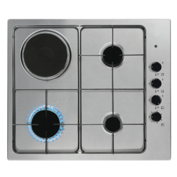 Built-in Mixed Electric Hob Stainless Steel 60cm