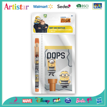 MINIONS opp bag packing stationery set
