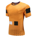 Mens Dry Fit Rugby Wear T Shirt Gold