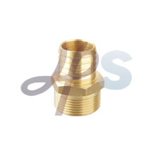 Brass straight male garden hose fitting