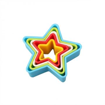 5pcs Star Shape Plastic Biscuit Mould