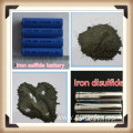 Iron disulfide for iron sulfide batteries