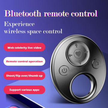 Mini Bluetooth Wireless Remote Controller One-Button Shutter Release Photo Control Selfie Timer Selfie Stick For iPhone Android