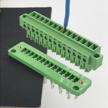 14 pin through wall mounting plug-in terminal block