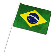 Custom Brazil Hand Flag Table Banner for Promotion