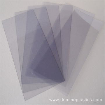 Good flexibility clear polycarbonate film for nameplates