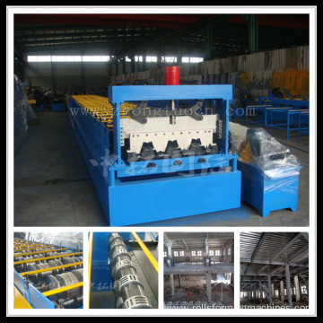 Floor Tile Decking Forming Machine With Galvanized Marerail