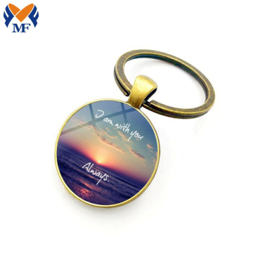Custom Printed Epoxy Keychain With Logo
