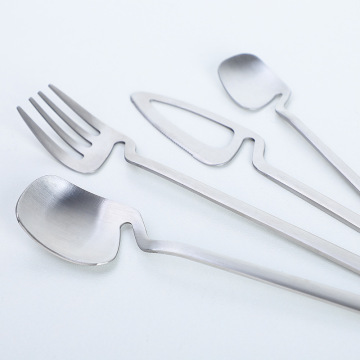 High Quality Steel Silverware Set Gold Flatware Set