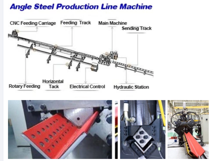 CNC Angle Bar Production Line Transmission Tower