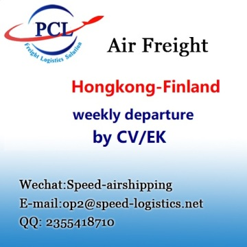 International air freight from Hongkong to Helsinki Finland