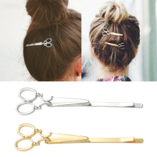 Gold/silver Color Creative Scissors Shape Lady Girls Hair Clip Hair Barrette Delicate Hair Pin Hair Decorations Accessories