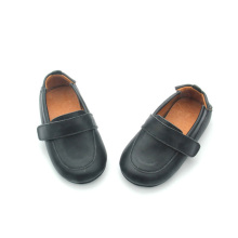 Black Elegant Skidproof Baby Boat Shoes