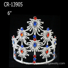 Wholesale blue red and white Christmas Pageant Crown