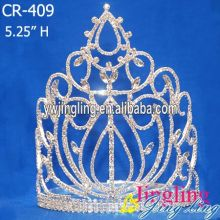 Fashion Rhinestone Big Large Head Crown