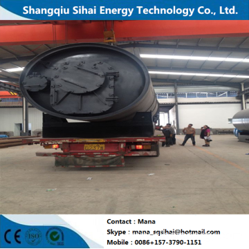 Eco-friendly top safety waste tyre pyrolysis machine