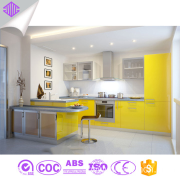hot sale cheap yellow lacquer kitchen cabinets