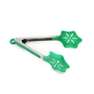 Green Christmas Tree Nylon Kitchen Tongs