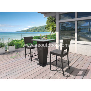 Set Outdoor Naturefun Woven PE Set Rattan Bar