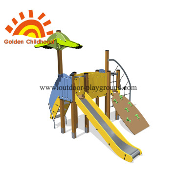 Climbing And Slide Outdoor Kids Playground For Sale