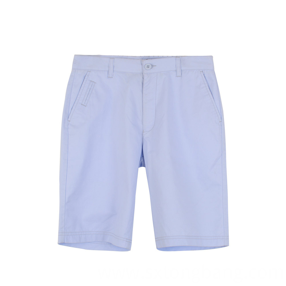 Chino Shorts With Welt Pockets