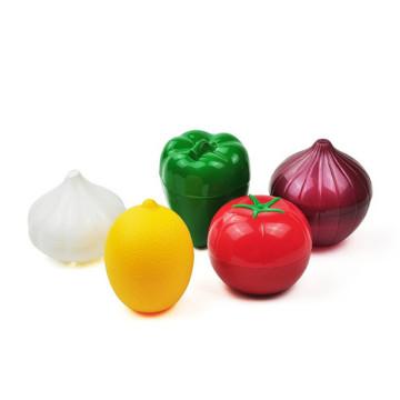 Kitchen Food Crisper Vegetable Containers Onion Garlic Tomatoes Lemon Green Pepper Fresh Storage Box