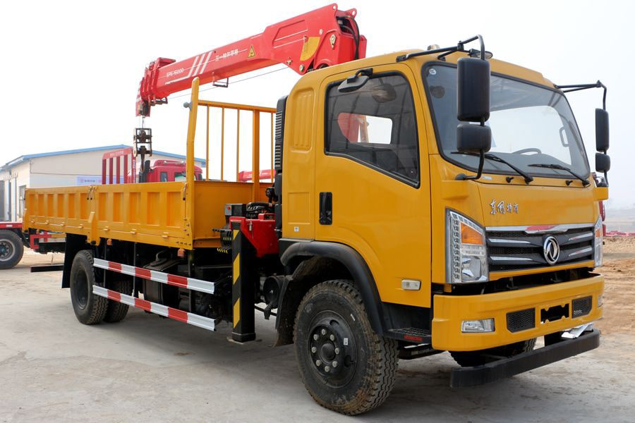 truck cargo with loader crane 2