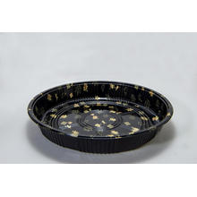 Disposable Plastic Round Sushi Platter Tray