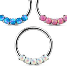 Bendable Opal Septum Cartilage Nose Ring
