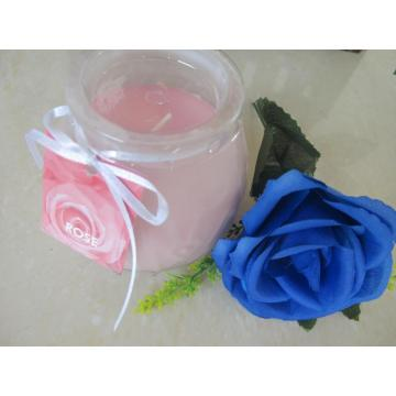 Best Smelling Rose Frosted Glass Candle