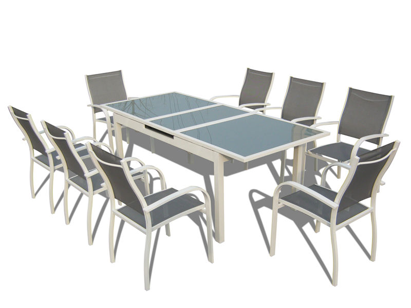 9pcs alu. Textilene extension dining set S1803