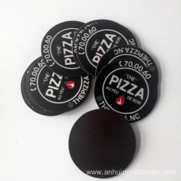Waterproof Pizza circle shaped  car door sticker