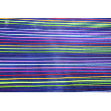 Nylon Polyester Colorful Stripe Mesh Fabric