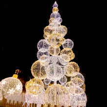 outdoor metal frame christmas Ball tree
