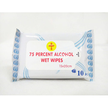 75% Alcohol Antiseptic Wet Wipes Antibacterial